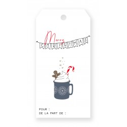 "Mini-tag cadeau ""Tasse..."