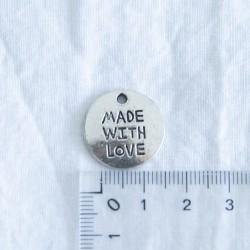 """Breloque """"médaille Made..."""