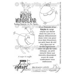 """Planche de tampons """"Winter..."""