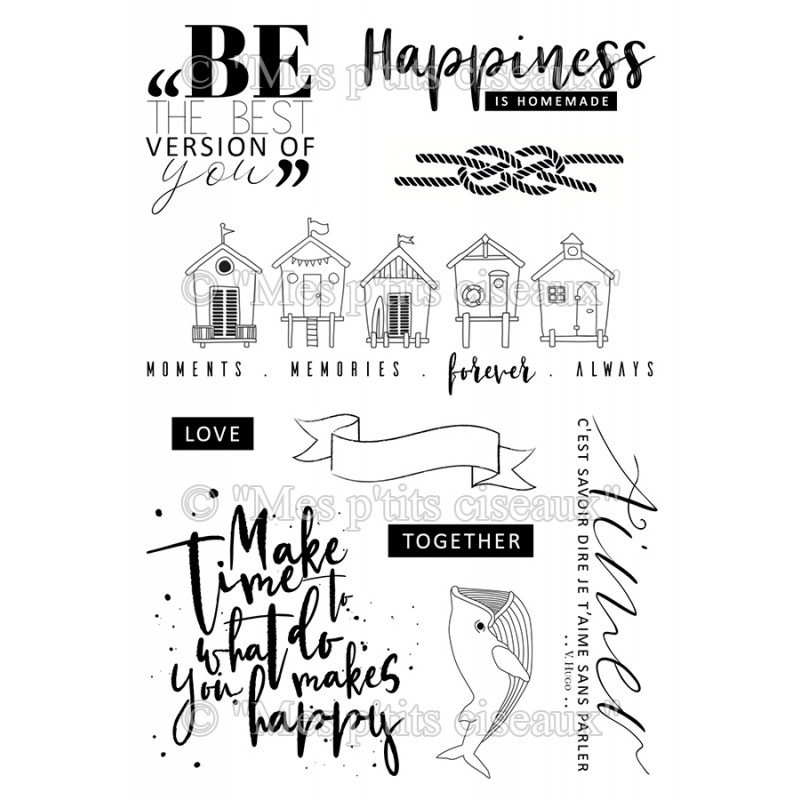"Planche de tampons ""Happiness"""